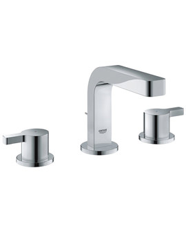 Lineare 3 Hole Basin Mixer Tap With Pop Up Waste