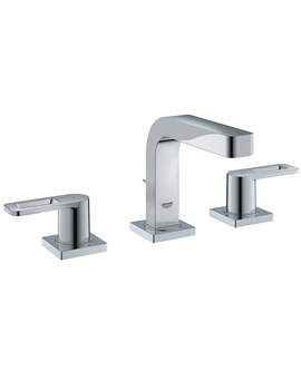 Quadra Three Hole Basin Mixer Tap With Pop Up Waste Set