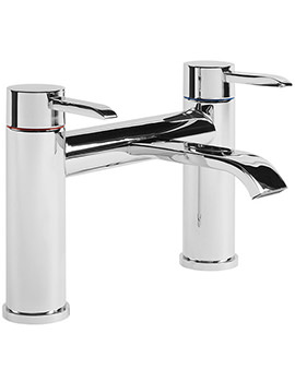 Hype Chrome Plated Deck Mounted Bath Filler Tap - THP32