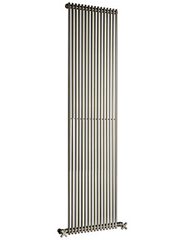 MKV16 Chrome 1010mm Single Vertical Radiator - 13 to 35 Sections