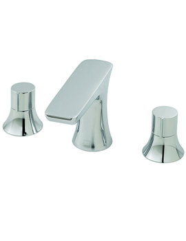 Altitude Deck Mounted 3 Hole Basin Mixer Tap Chrome