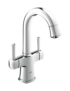 Grandera 2 Handled Basin Mixer Tap With Swivel Spout - 21107000