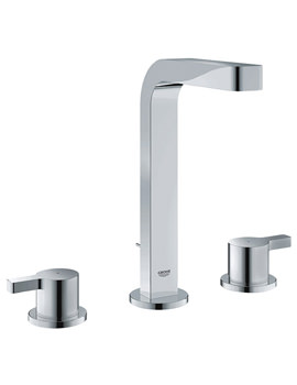 Lineare Half Inch 3 Hole Basin Mixer Tap With Pop Up Waste