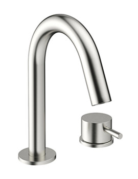 Mike Pro 2 TH Deck Mount Brushed Stainless Steel Basin Mixer Tap