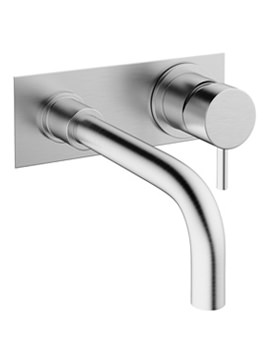 Crosswater Mike Pro 2 TH Wall Brushed Chrome Basin Mixer Tap With Plate