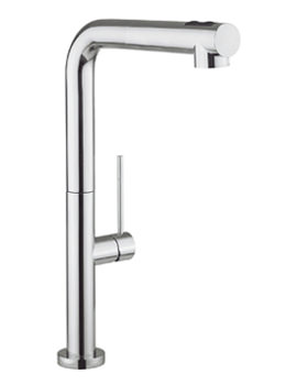 Cucina Tube Chrome Kitchen Mixer Tap With Dual Function Spray