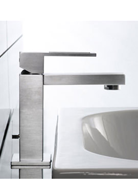 Noken Irta Single Lever Stainless Steel Finish Basin Mixer Tap