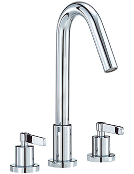 Stic 3 Hole Bath Filler Tap Chrome - STC015