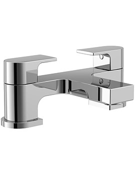 Dusk 2 Hole Bath Filler Tap Chrome - ET109