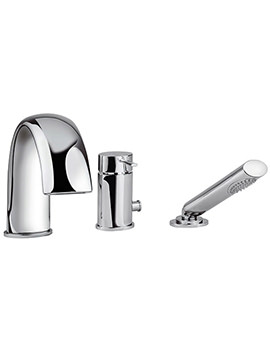 Bella 3 Hole Bath Shower Mixer Tap With Shower Kit - 42060