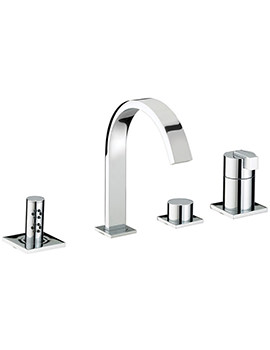 Chill 4 Hole Bath Shower Mixer Tap Chrome - CL 4HBSM C