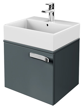 Ideal Standard Strada 600mm Wall Mounted Basin Storage Unit Gloss Grey