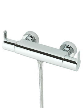 Angle Exposed Thermostatic Shower Valve Chrome - 22190