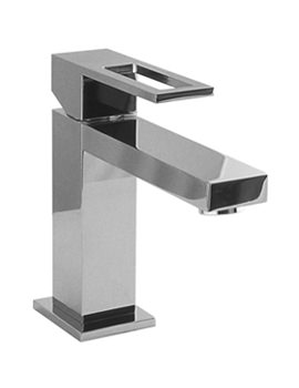 Noken Irta Single Lever Chrome Basin Mixer Tap And Waste