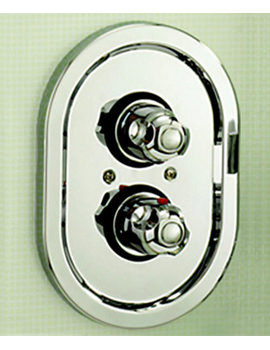 Tre Mercati Roma Chrome Concealed Thermostatic Shower Valve - 968