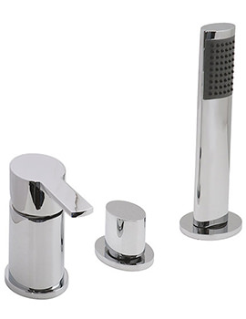 Soho Deck Mounted 3 Hole Bath Shower Mixer Tap - SOH-132 NS