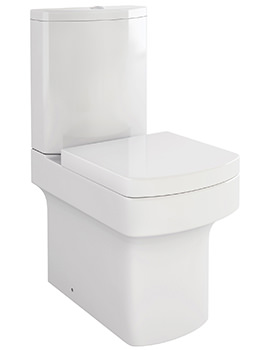 Pura Dekka Close Coupled WC Bowl With Cistern And Soft Close Seat 610mm