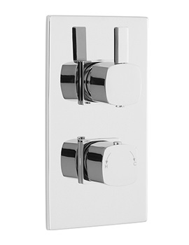 Related Lauren Pioneer Square Twin Thermostatic Shower Valve-Brass Trimset