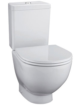 White Close Coupled Back To Wall WC With Cistern 680mm