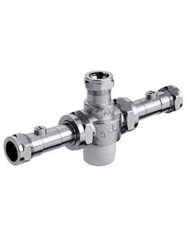 Gummers 22mm TMV3 Thermostatic Mixing Valve With Isolation