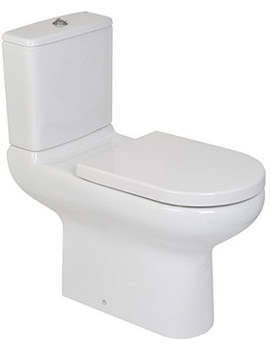 Compact Extended Rimless Close Coupled WC With Cistern And Seat 750mm