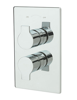 Angle Concealed Thermostatic Shower Valve Chrome - 22191