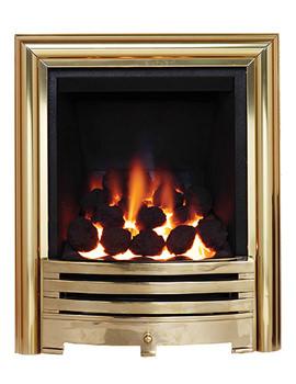 Contessa Full Depth Inset Gas Fire Brass - 81507