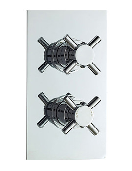 Related Lauren Minimalist Crosshead Twin Concealed Thermostatic Shower Valve