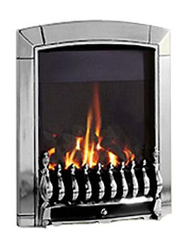 Flavel Caress Traditional Slide Control Inset Gas Fire Chrome FICC6JSN
