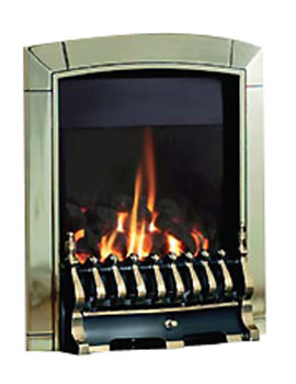 Caress Traditional Slide Control Inset Gas Fire Brass FICC41SN