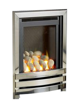 HE Manual Control Full Depth Gas Fire Chrome-Pebble - FHLPX0MN2