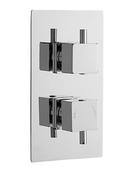 Minimalist Square Twin Concealed Thermostatic Shower Valve