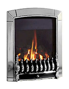 Flavel Caress Slide Control Slimline Inset Gas Fire Silver - FNCVCCSN