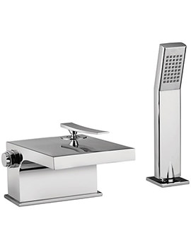 Dance Waterfall Bath Shower Mixer Tap With Shower Kit