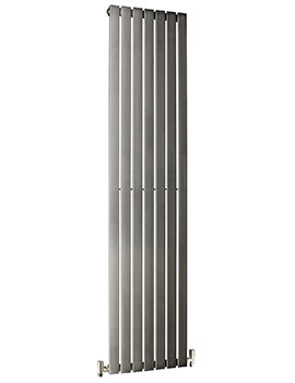 DQ Heating Delta 410 x 1600mm Brushed Stainless Steel Vertical Radiator