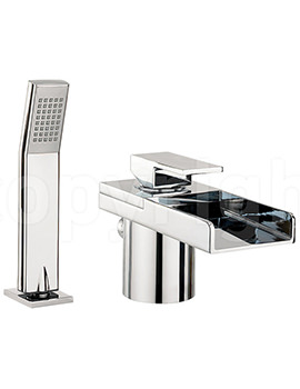 Related Crosswater Water Square Deck Mounted Bath Shower Mixer Tap With Kit