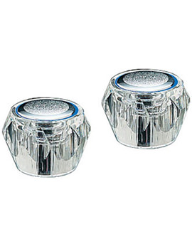 Capri Pair Of Clear Head Chrome - 451