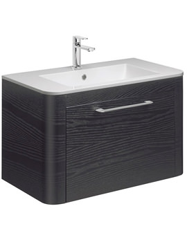 Celeste 800mm Black Ash Single Drawer Basin Unit - CL8000DBA