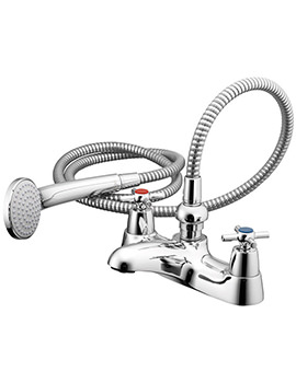 Crosshead Bath Shower Mixer Tap With Shower Set