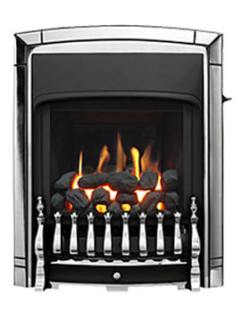 Dream Convector Slimline Slide Control Inset Gas Fire Chrome