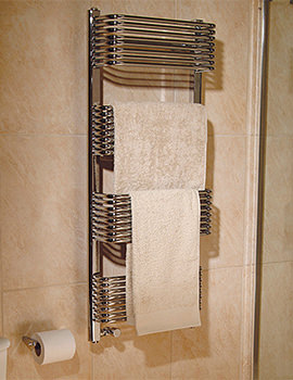 Trieste Superior Plus Chrome Towel Warmer 600 x 1070mm