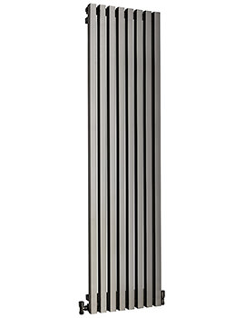 DQ Heating Dune 280 x 1800mm Brushed Stainless Steel Vertical Radiator