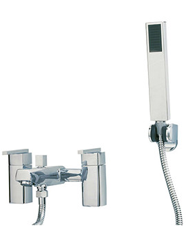 Related Phoenix SQ Series Deck Mounted Bath Shower Mixer Tap With Shower Kit