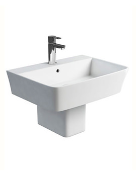 Related Britton Fine S40 600mm Washbasin With Square Semi Pedestal