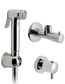 Luxury Shattaf Kit With Thermostatic Valve And Angle Valve