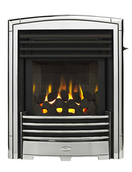 Related Valor Petrus Slimline Homeflame Inset Gas Fire Silver-Chrome - 0596341