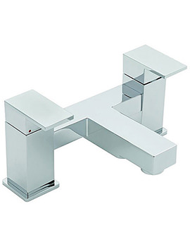 Edge Pillar Mounted Bath Filler Tap Chrome - 22340