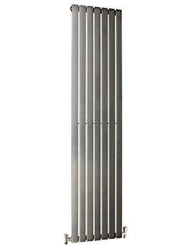 DQ Heating Delta 410 x 2000mm Brushed Stainless Steel Vertical Radiator