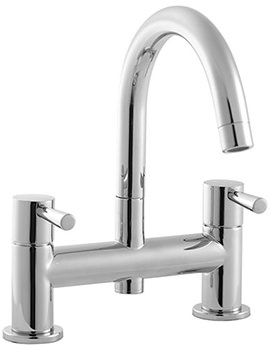 Siron 2 Hole Deck Mounted Bath Filler Tap - SN5255CP