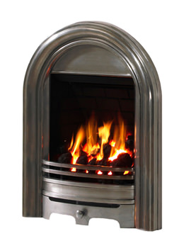 Be Modern Abbey Slimline Thermostat Inset Gas Fire Polished - 02922X
